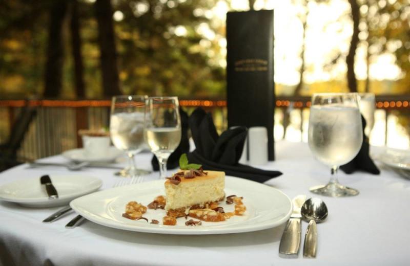 Dining at Lost Lake Lodge.