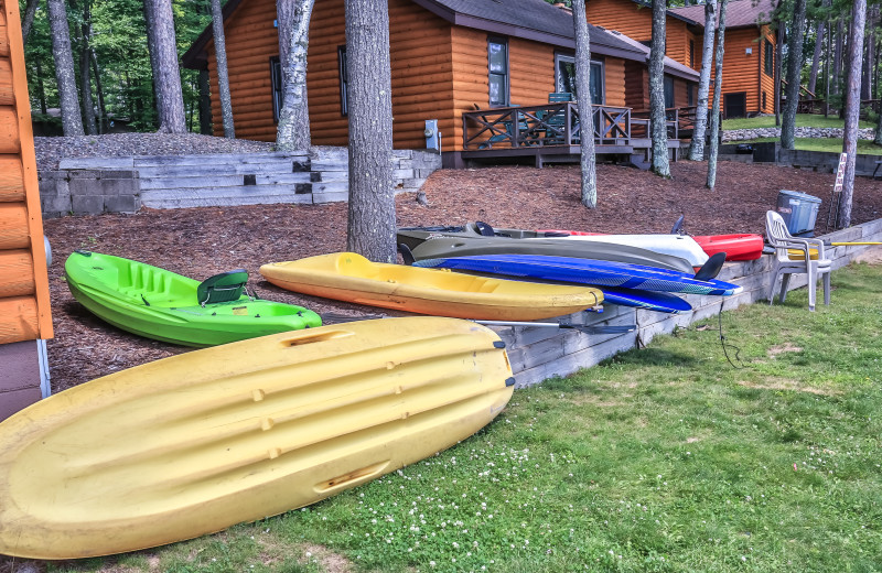 Kayaks at Serenity Bay Resort.