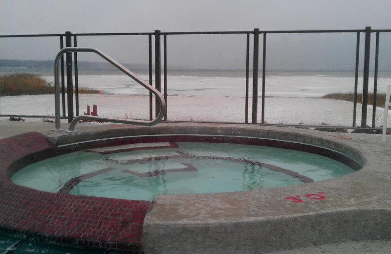 Hot tub at The Cherry Tree Inn & Suites.
