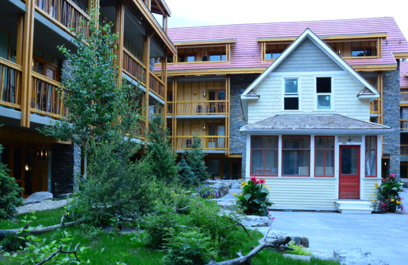 Exterior view of Moose Hotel & Suites.
