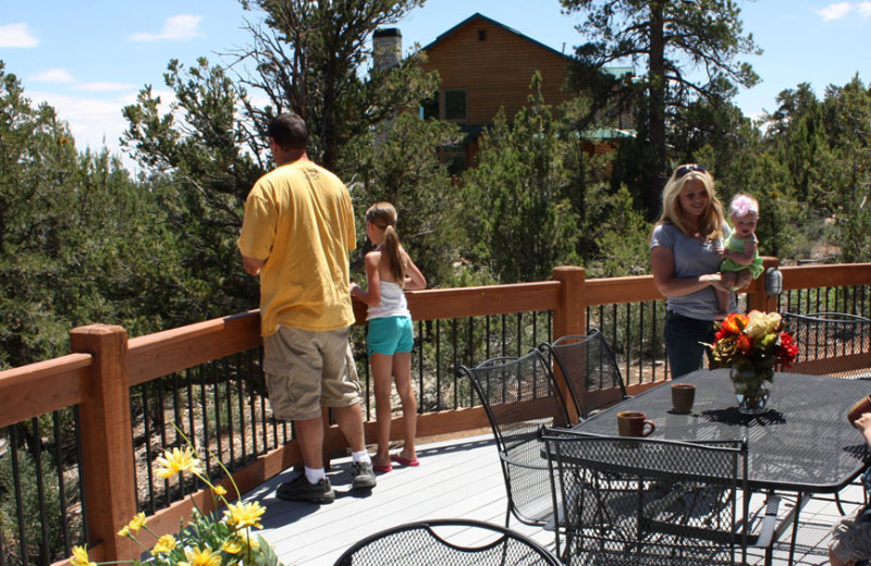 Deck at Zion Ponderosa Ranch Resort.