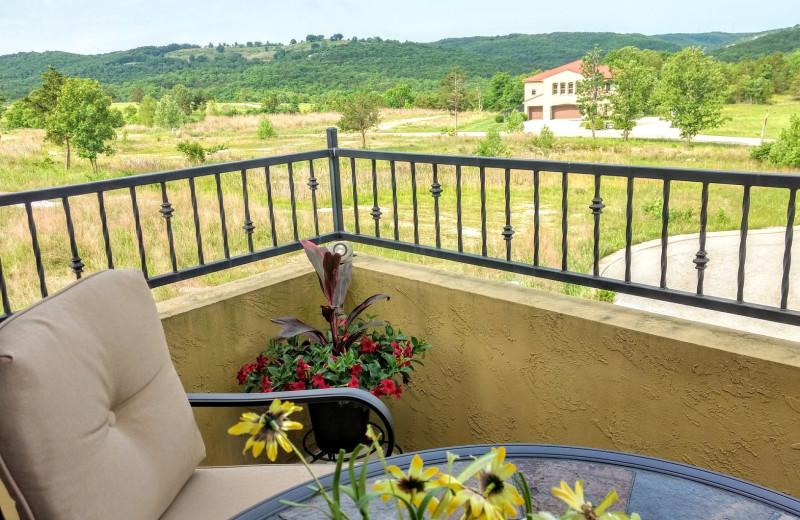 Balcony view at LuLas Getaway.