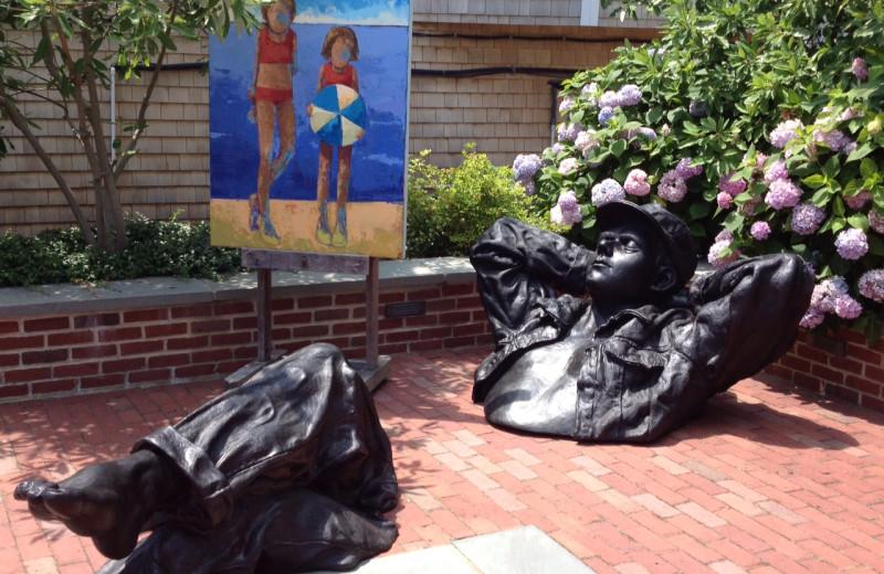 Sculpture garden near Vineyard Square Hotel & Suites.