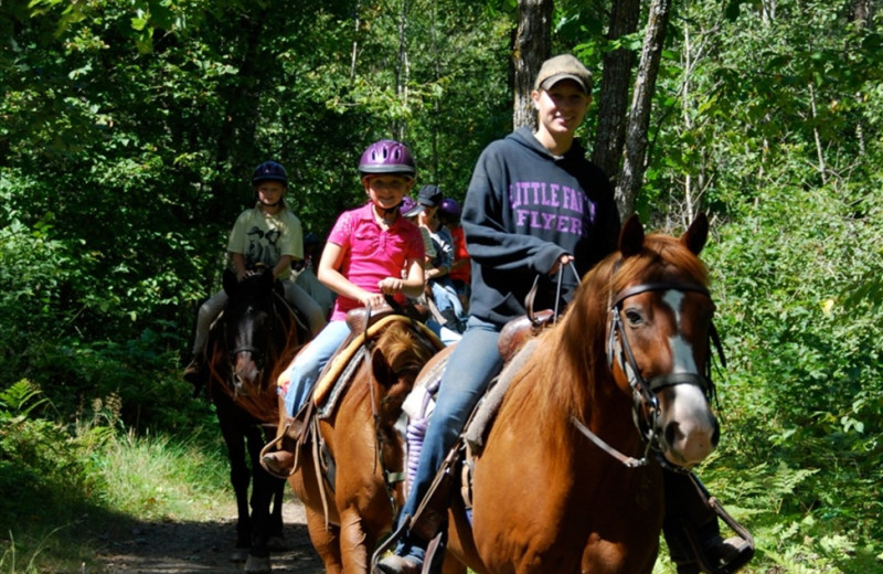 Horseback riding near Quarterdeck Resort.