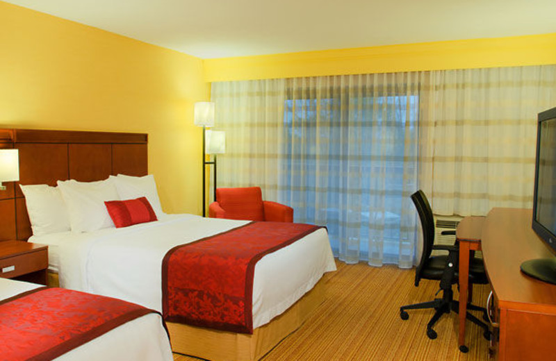 Guest room at Courtyard Traverse City.