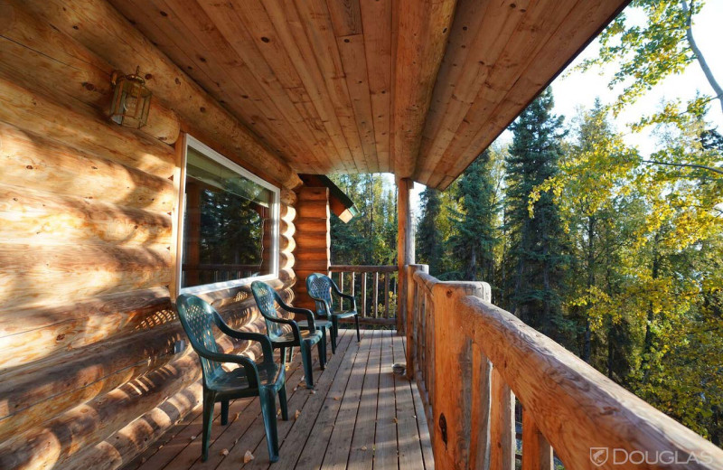 Deck view at All Alaska Outdoors Lodge.