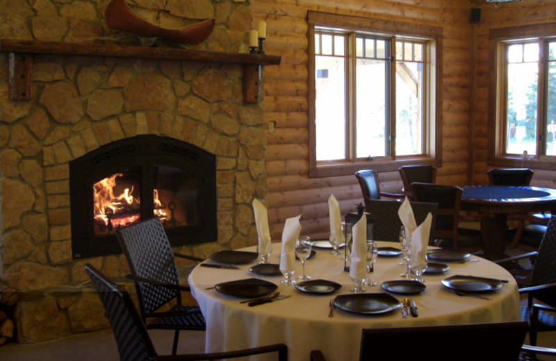 Dining at Bakers Narrows Lodge.