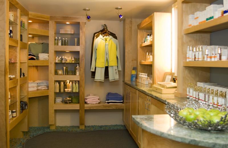 Spa store at Vail Mountain Lodge & Spa.