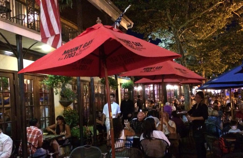 Patio dining at American Hotel.