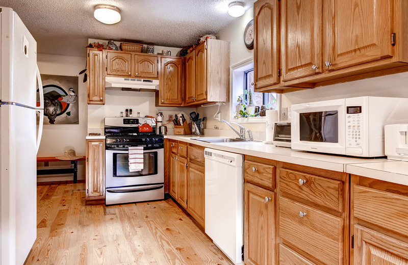 Rental kitchen at GetAway Vacations.