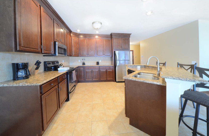 Guest kitchen at The Quarters at Lake George.