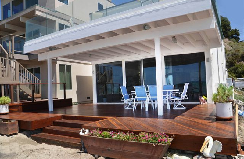 Rental patio at Capistrano Realty.
