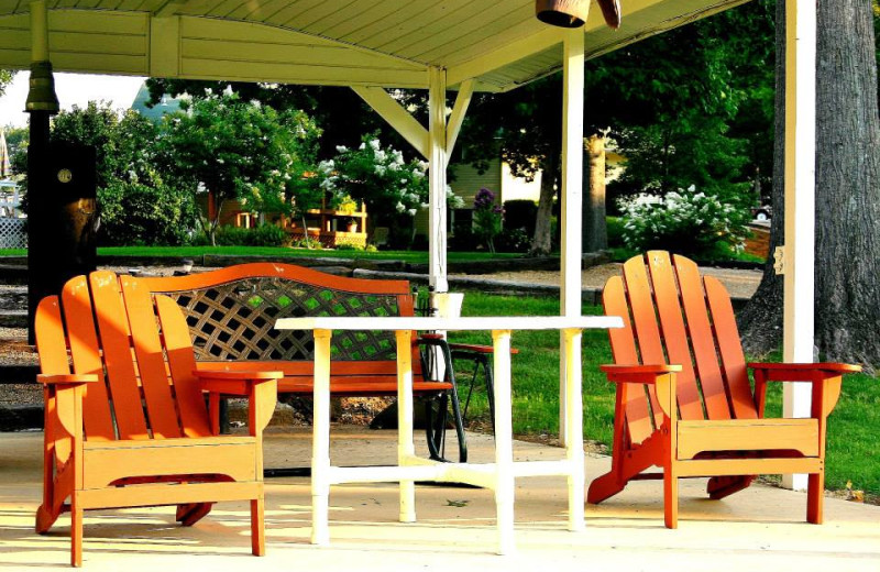 Relax in the comfortable seating at the Pavilion on the North Fork River