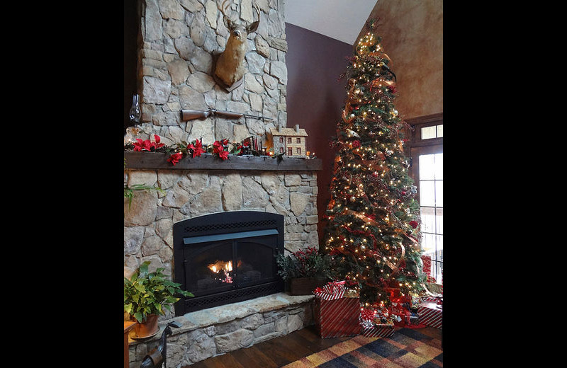 Rental fireplace at Amazing Branson Rentals
