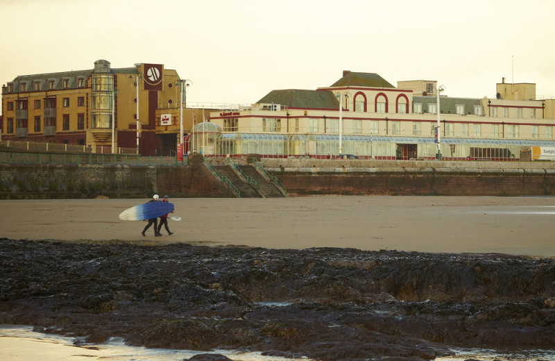 The beach at Swallow Hotel Sunderland.