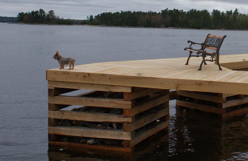 Dock at Park Point Resort.
