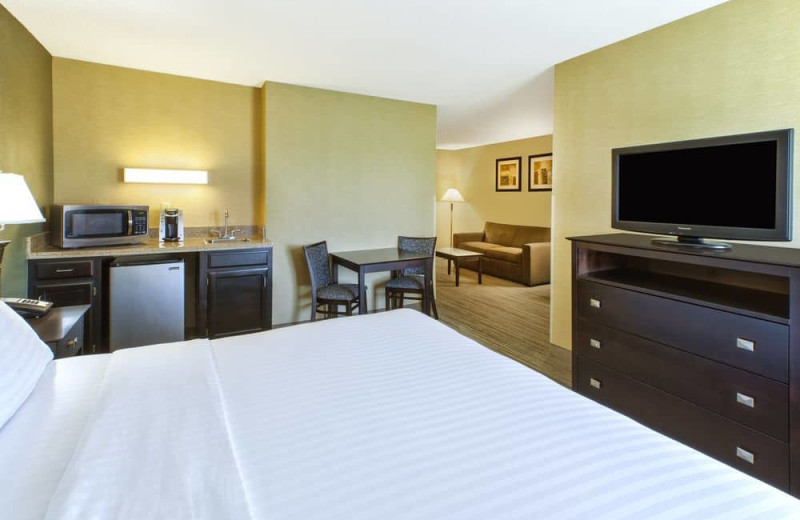 Guest room at Holiday Inn Express Hotel & Suites - Benton Harbor.