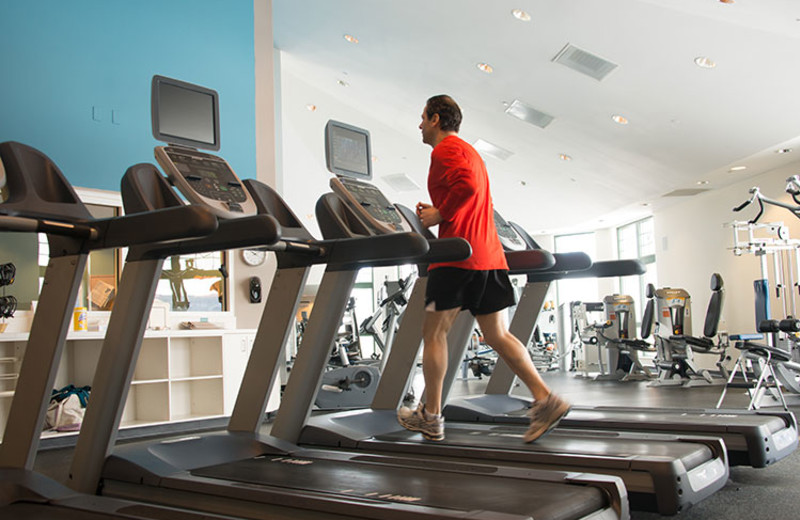 Fitness room at Cranwell Resort.