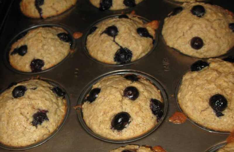 Blueberry muffins at Belle Meade.