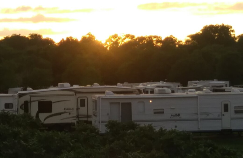 Campground at The Homestead at Ottertail RV Park and Resort.