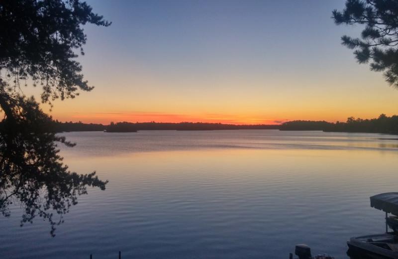 Sunset at Bay View Lodge.