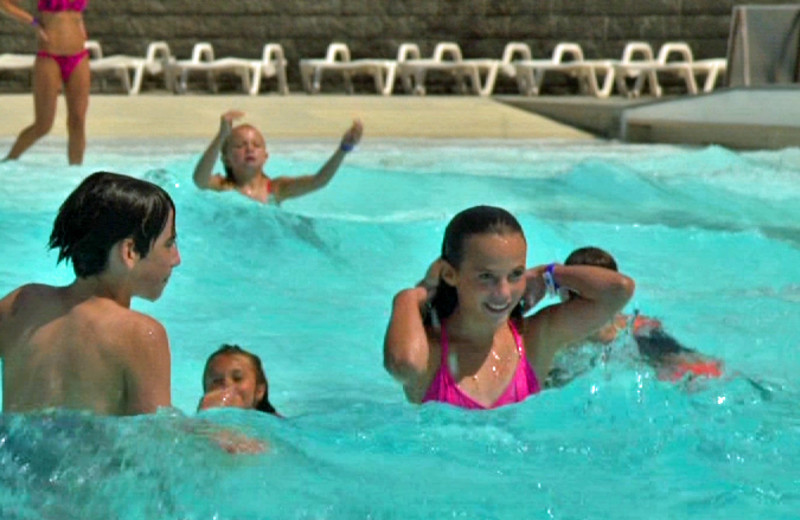 Swimming in the pool at The Country Place Resort.
