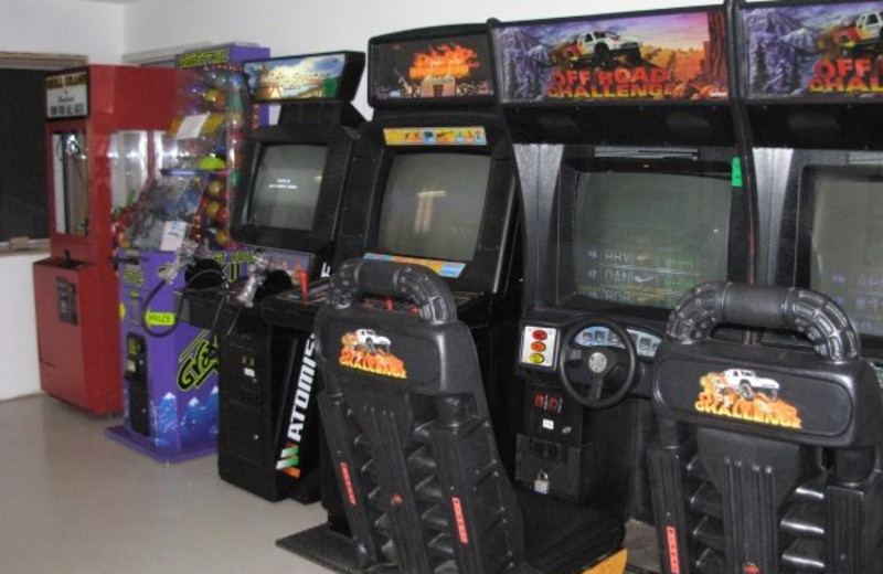 Game room at Diamond Cove Cottages.