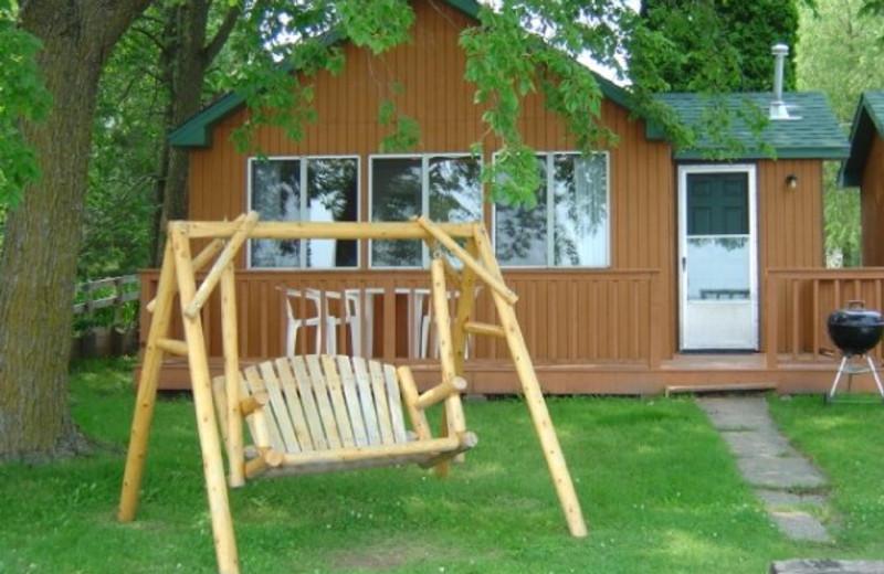 Cabin exterior at Campfire Bay Resort.