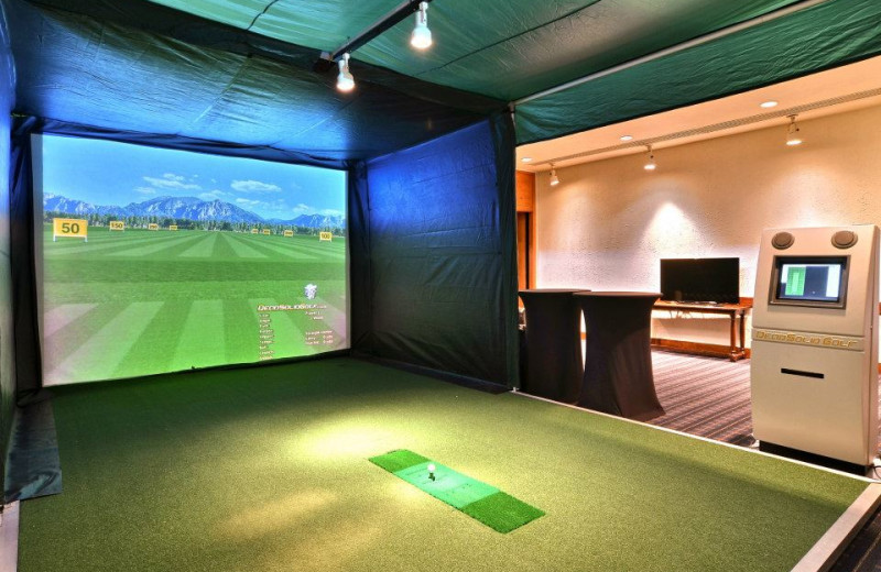 Golf simulator at Toftrees Golf Resort and Conference Center.