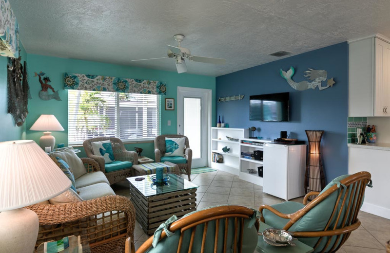 Rental living room at Florida Keys Vacation Rentals.
