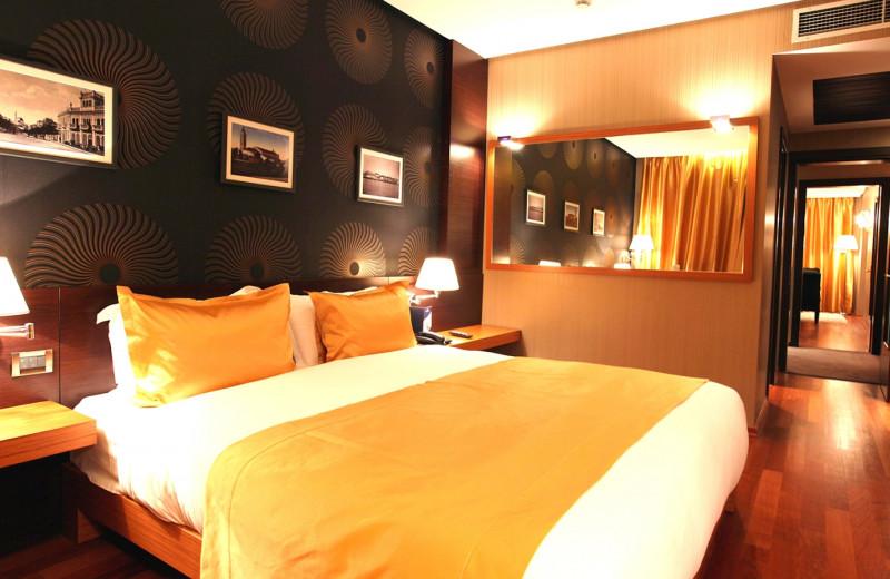 Guest room at Tirana International Hotel.