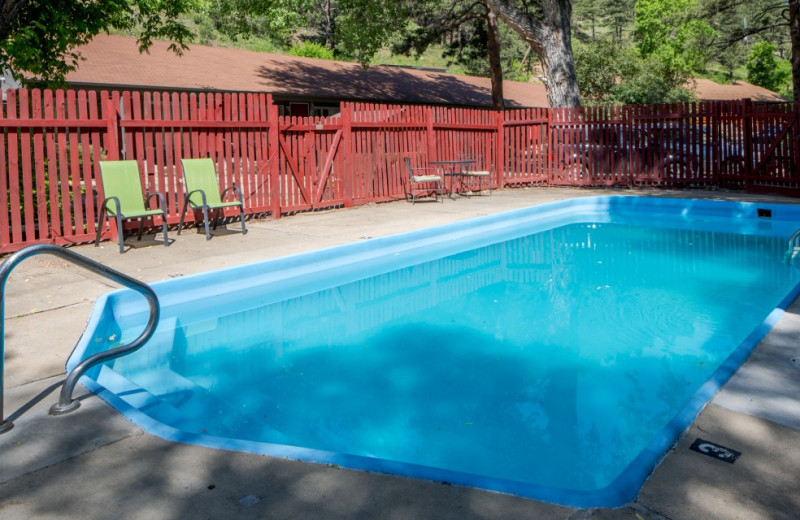 Outdoor pool at Boulder Adventure Lodge.