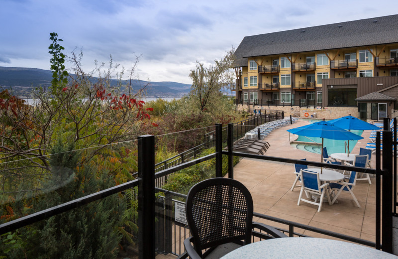 Balcony view at Summerland Waterfront Resort.