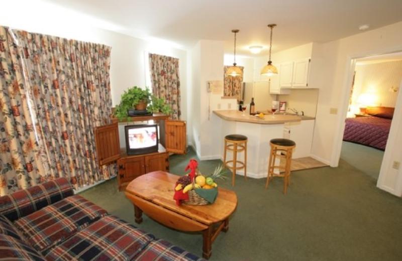 Suite interior at Jiminy Peak Mountain Resort.
