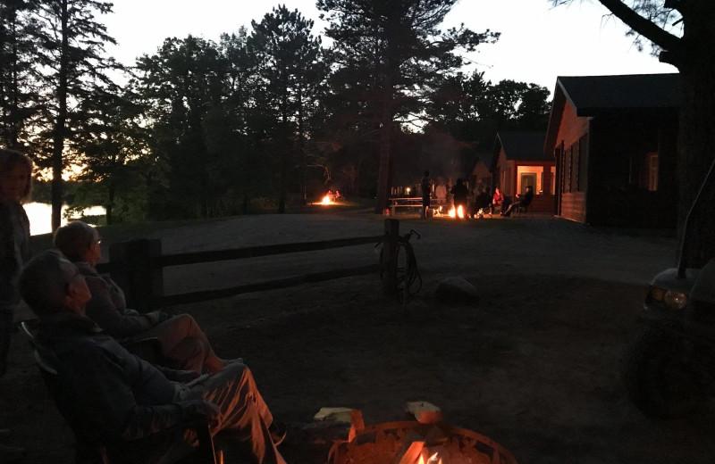 Campfire at Lakewood Lodge.
