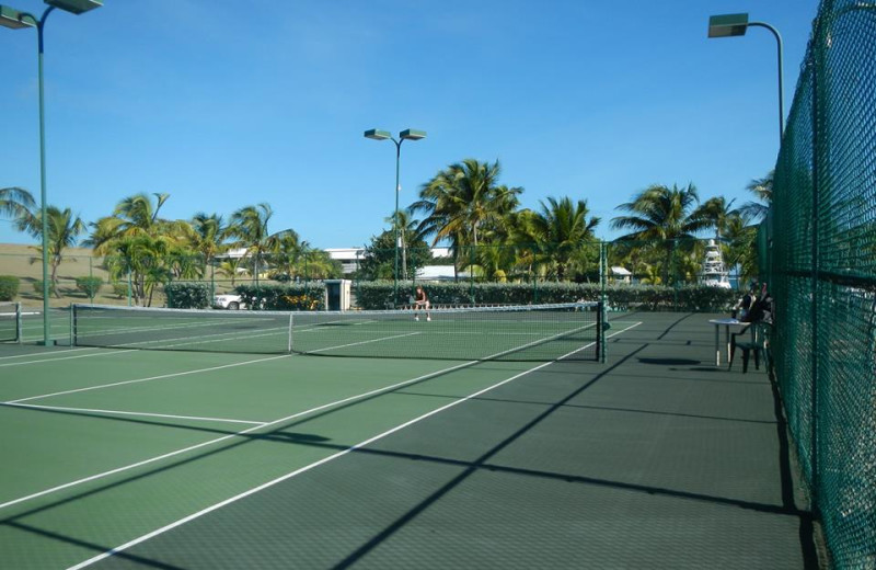 Tennis Courts at Tamarind Reef Resort