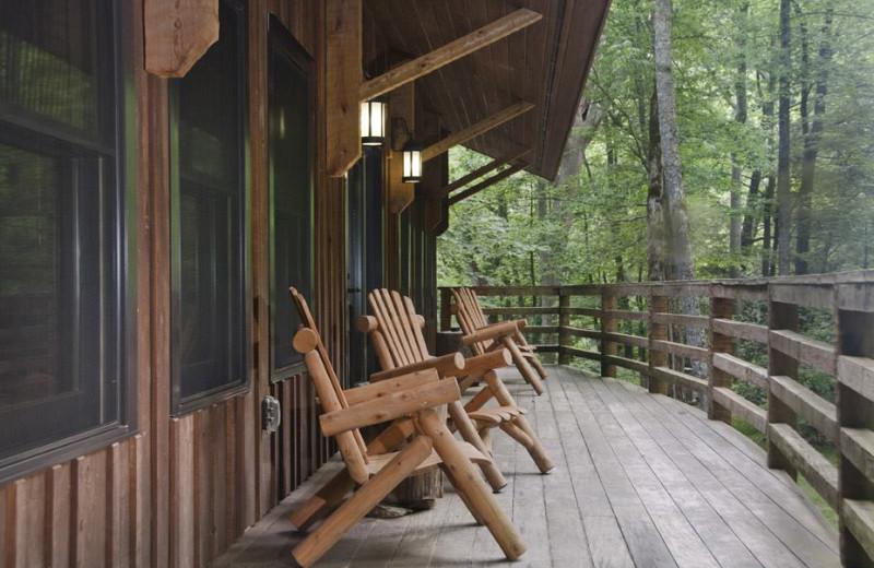 Deck at Nantahala River Lodge.