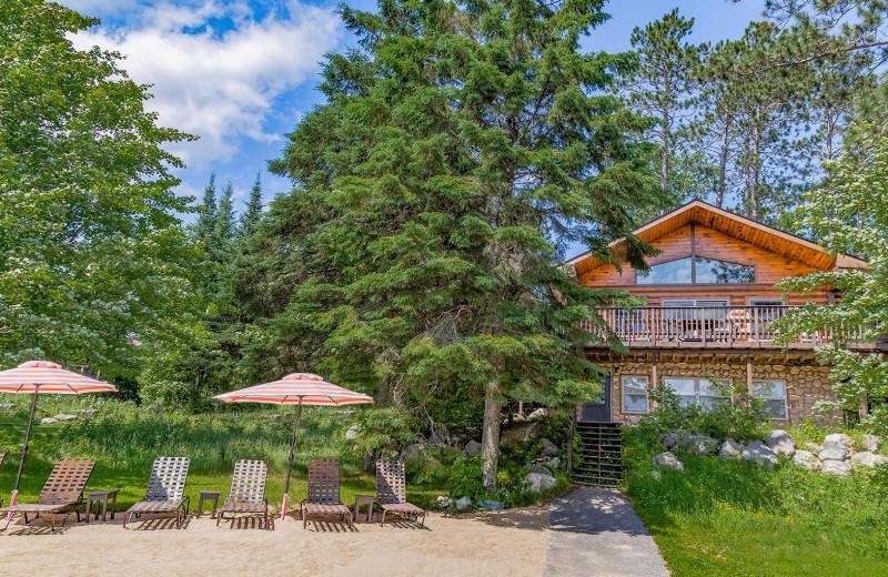 Cabin exterior at White Eagle Resort.