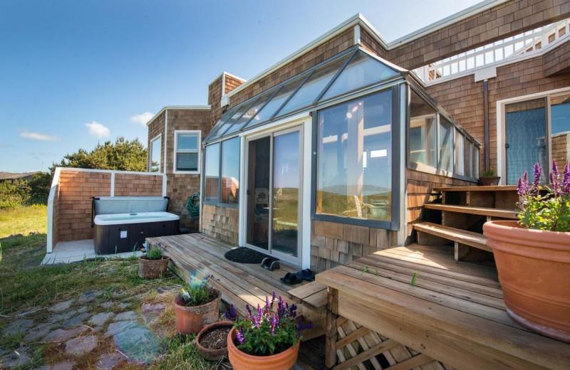Rental deck at Beachhouse Vacation Rentals.