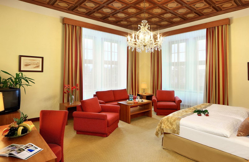Guest suite at Grand Hotel Brno.