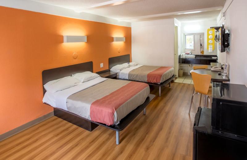 Guest room at Motel 6 - Benton Harbor.