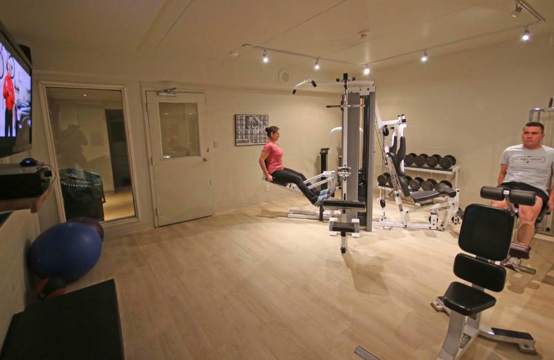 Gym at Elmhirst's Resort.