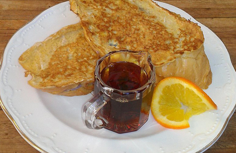 Breakfast at Batcheller Mansion Inn Bed and Breakfast.