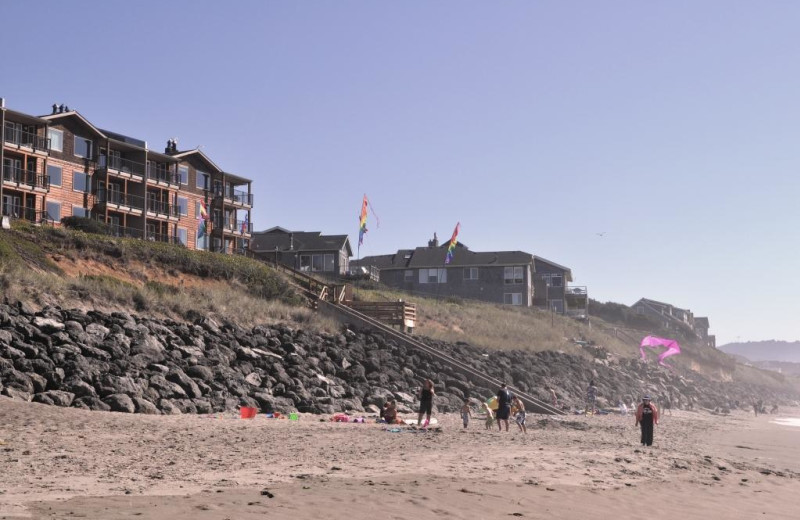 Cavalier Beachfront Condominiums beach and property.