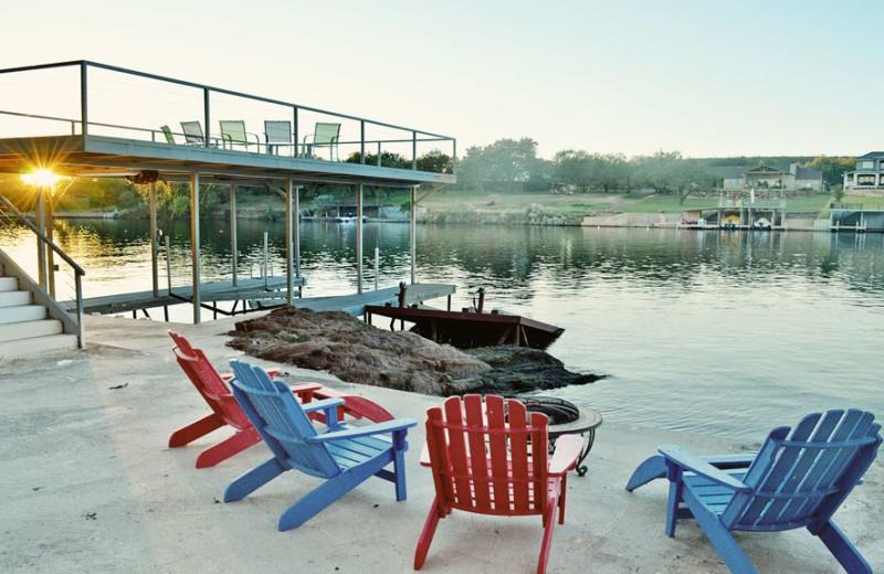 Lake view at Elk Lodge Vacation Home.