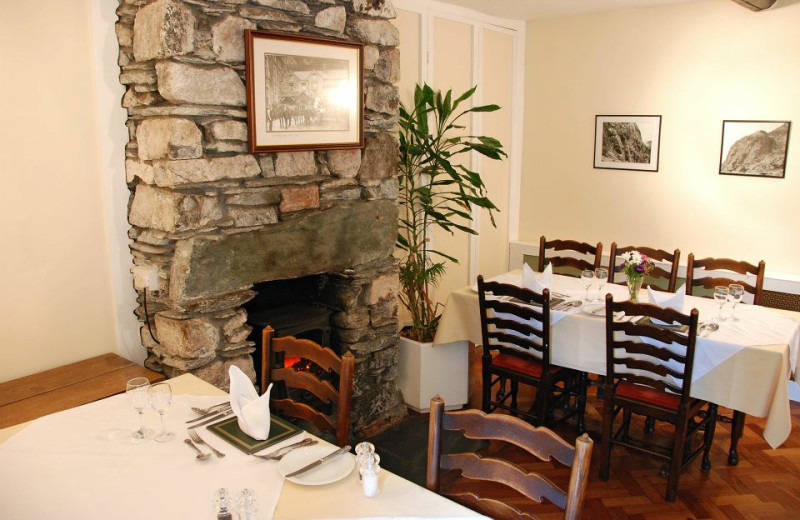 Dining at Old Dungeon Ghyll Hotel.