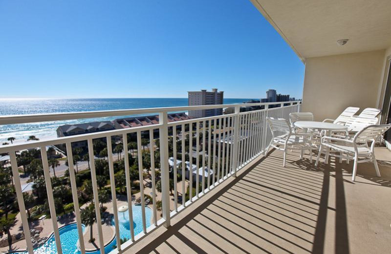Rental balcony view at Sterling Shores.