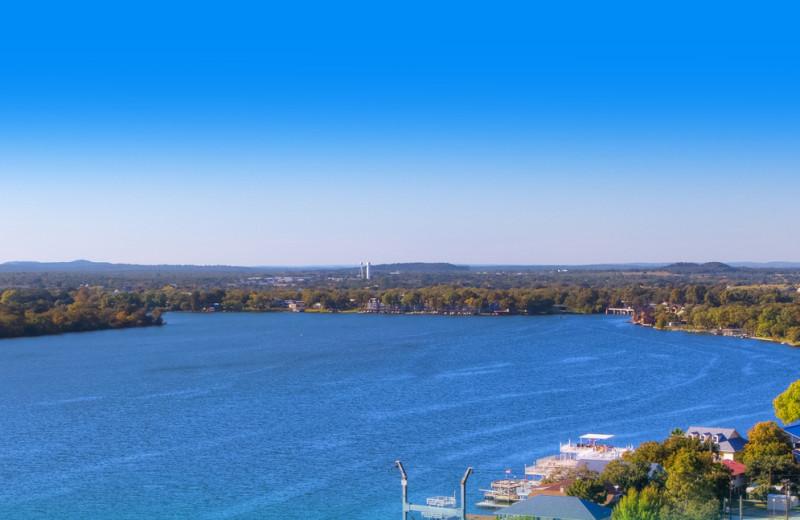 Lake view at Council Creek Lodge.