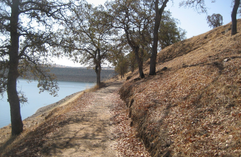 Path along lake at Lake Don Pedro.