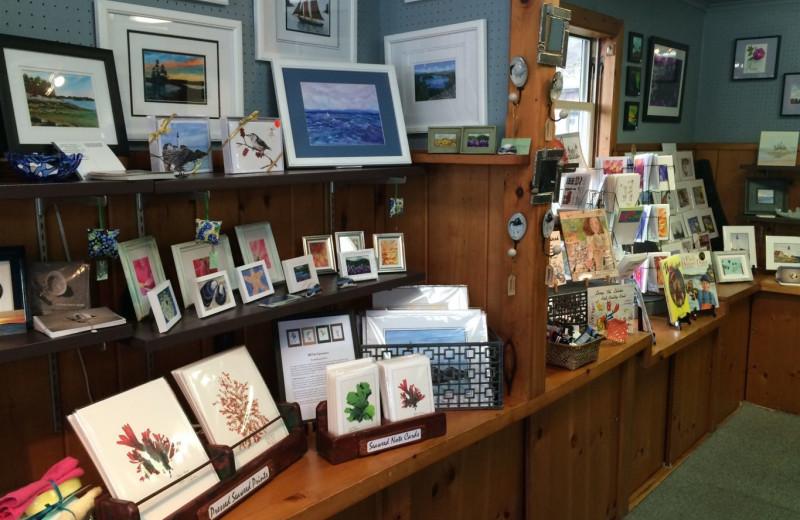 Gift shop at Sebasco Harbor Resort.